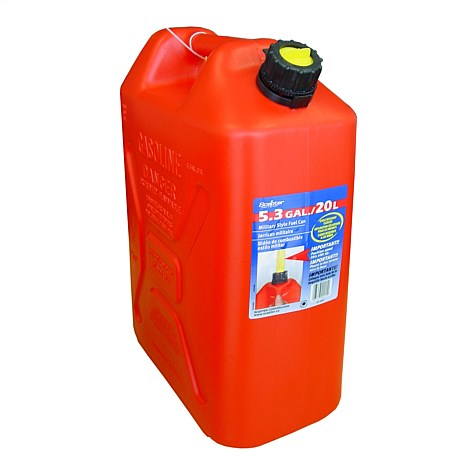 Military Style Plastic Petrol Fuel Can 20L