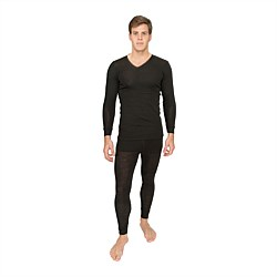 Thermerino Long Sleeve Vee Neck Thermal Top