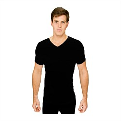 Thermerino Short Sleeve Vee Neck Thermal Top
