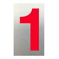 Markit Graphics 75mm Red Letterbox Number