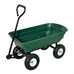 Jobmate Green Garden Tipping Cart