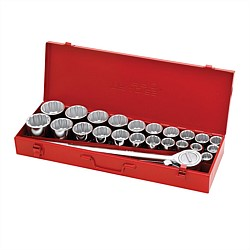 27Pce Imperial & Metric 3/4Inch Drive Socket Set