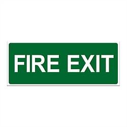 Markit Graphics Fire Exit Sign