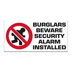 Markit Graphics Burglars Beware Sign