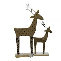 Stoneleigh & Roberson Wooden Reindeer Ornament