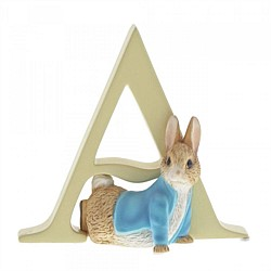 Beatrix Potter Alphabet Letter Figurine Ornament