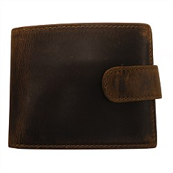 Paxal Mens Antique Brown Leather Wallet