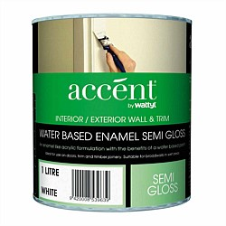 Accent Water Based Wall & Trim Semi-Gloss Enamel Paint