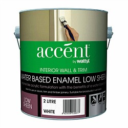 Accent Water Based Wall & Trim Low Sheen Enamel Paint