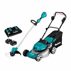 Makita Brushless Lawn Mower & Line Trimmer Kit