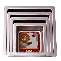 D.Line Anodised Square Cake Tin